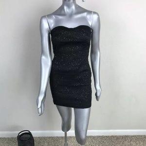 FOREVER 21 Mini Dress Strapless Sequin Sz L